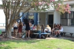 Students take refuge in the shade during lunch. By Anastasia Leones