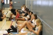 P.E. students instead went to the small gym for a study hall. By Anastasia Leones